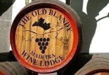 "Madeira Wein, Weinfass ""The old blandy"" Madeira Wine Lodge"
