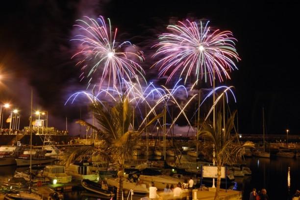 Feuerwerk beim Atlantik Festival auf Madeira