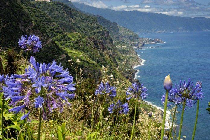 Steilküste auf Madeira bei Santana